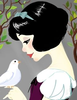 Snow White There is something I do and do not like about this style of coloring. Its simplicity appeals to me but then the