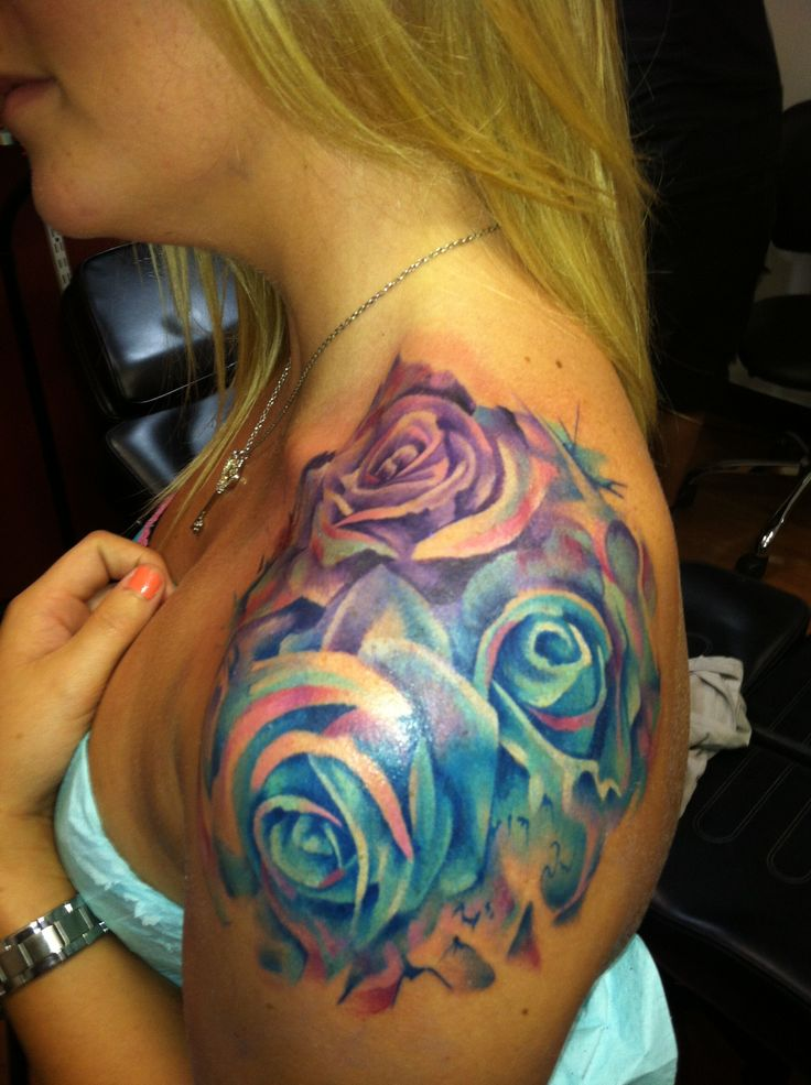 Amazing Watercolor Rose Tattoo Exactly How I Want Mine