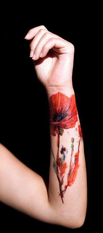 17 Best ideas about Poppy Flower Tattoos on Pinterest