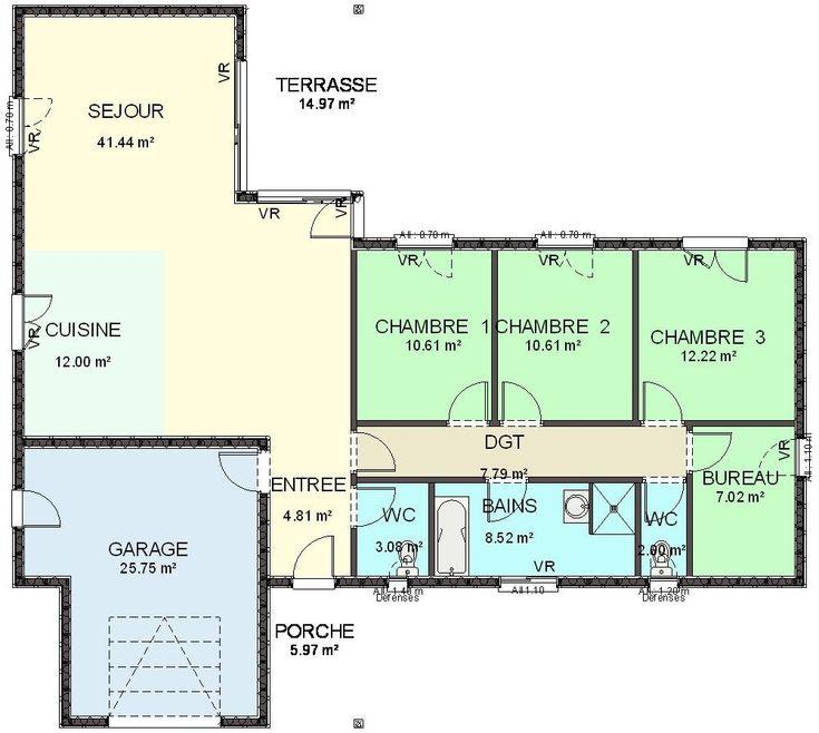 Plan Maison Plain Pied  Chambre Affordable Chambre Plan Maison