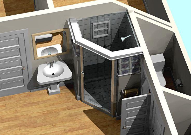 small bathroom walk in doorless shower designs