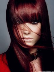 black hair dye with red tint