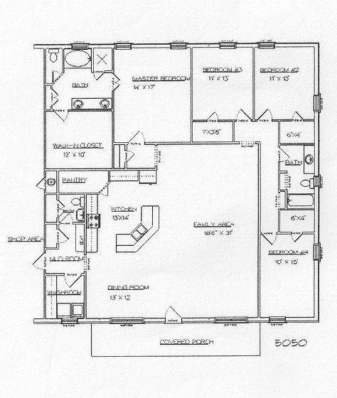 25 Best Ideas About Metal House Plans On Pinterest Open Floor