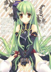 anime girl with green hair code