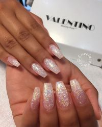 25+ best ideas about Acrylic nails glitter on Pinterest