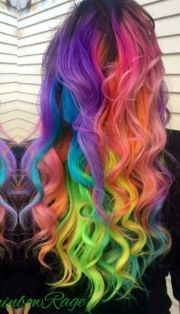 ideas dyed curly
