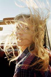 top . wind blowing. hair