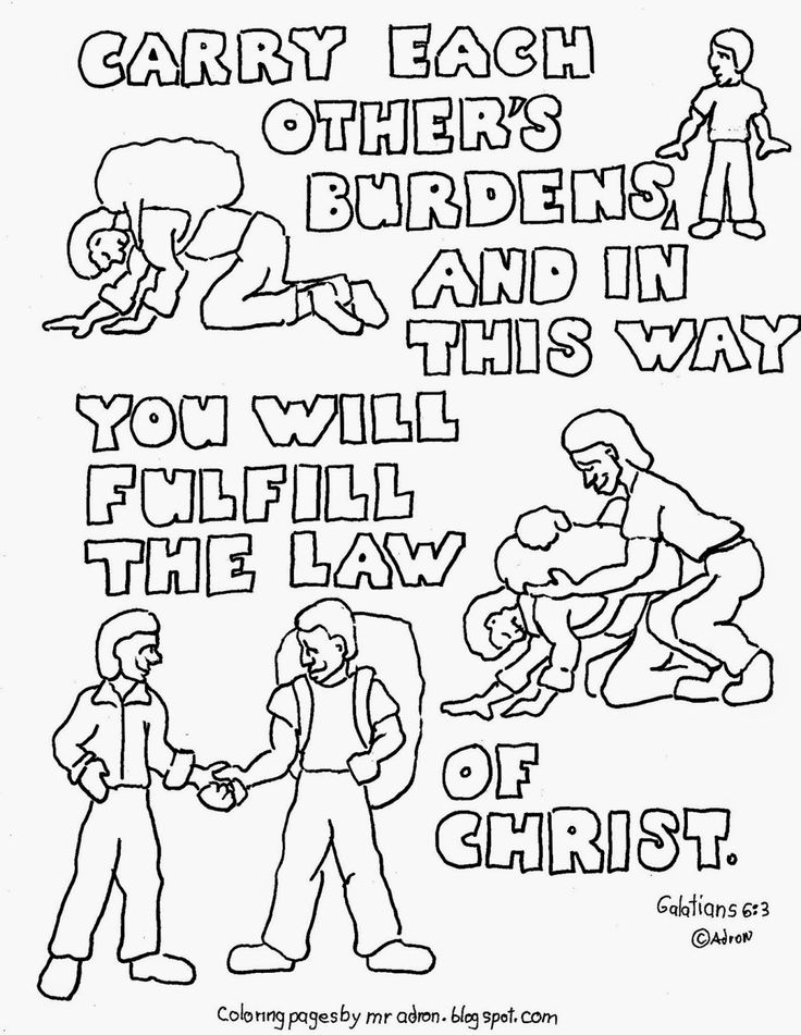 Galatians 6:2 coloring page. See more at my blog: http