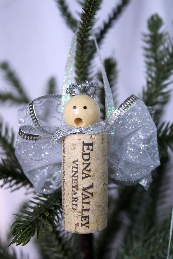 Cork Angel Ornament- something I can do with the 2000 corks I bought a garage sa