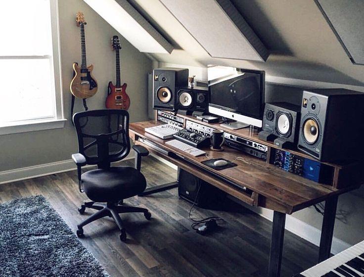 25 best ideas about Studio desk on Pinterest  Audio