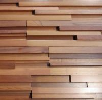 Unique Modernist style Western Red Cedar feature wall ...