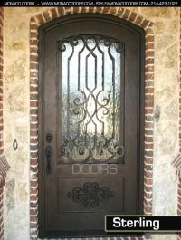 front door wrought iron Designs | austin custom doors ...