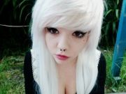 white hair thinking