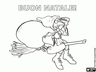 Merry Christmas with the Befana, the Italian tradition, in