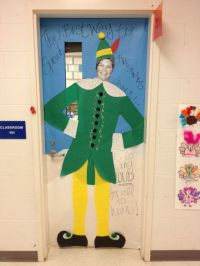 Christmas classroom Elf door. Our principal is serving as ...