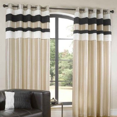 Up To £46 99 Eddy Lined Eyelet Curtains In Black With Matching