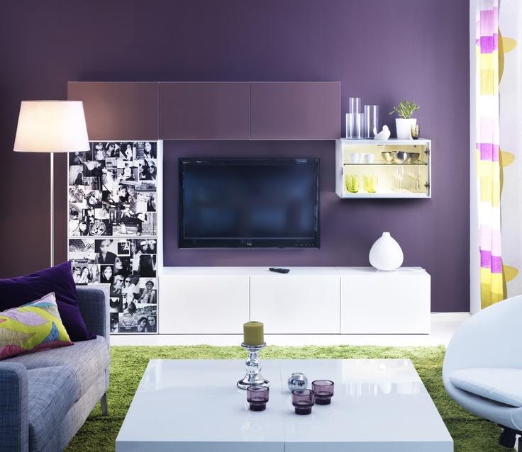 IKEA sterreich Inspiration Wohnzimmer Wandschrank BEST Couchtisch LACK Tischleuchte VTE
