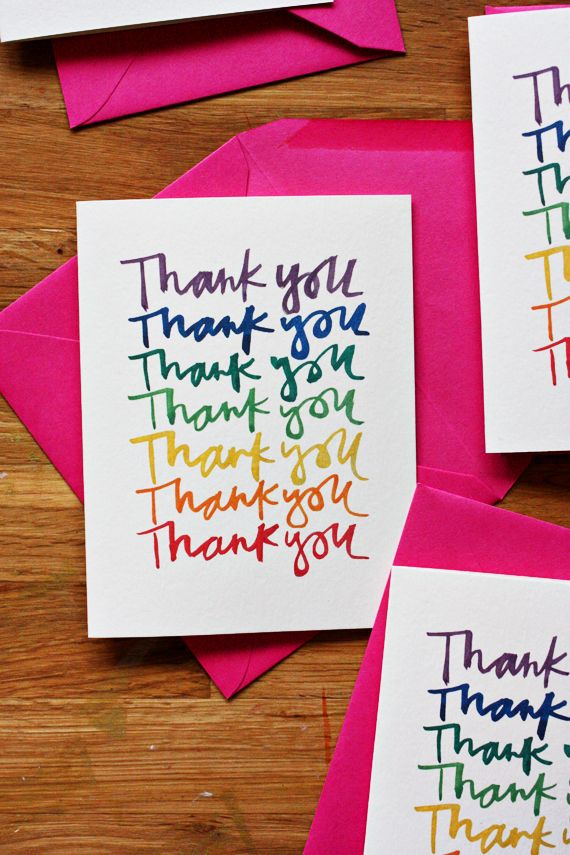 Cute Thank You Note Printable Perfect Post Rainbow