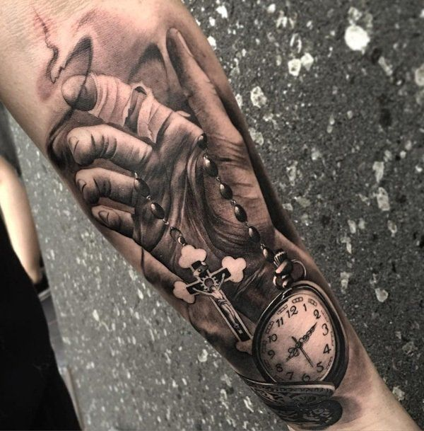 awesome watch tattoo design