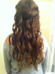 amazing long brown curly braided