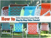 Macrame Lawn Chair Tutorial