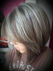 gray hair highlights ideas