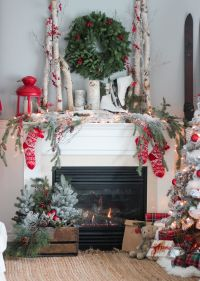 25+ best ideas about Christmas fireplace on Pinterest ...