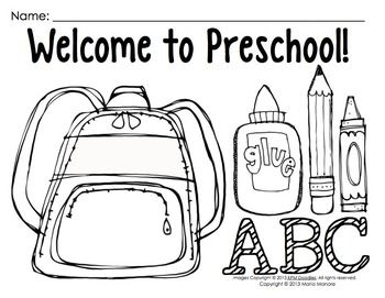 COLORING PAGES FOR BACK TO SCHOOL {PRE-K-1 CLASSROOMS