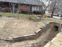 Railroad tie Retaining Wall Installation In Tulsa Railroad ...