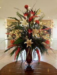 hotel foyer flower arrangements   Silk floral in hotel ...
