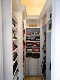 Good idea for small walk-in closet if this is the shape I ...