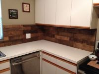 DIY Kitchen backsplash using pallet wood, Minwax special ...