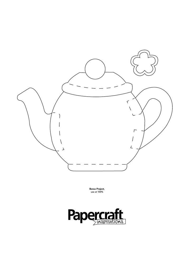 Tea pot shaped template from PaperCraft Inspirations