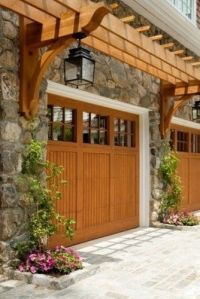 Pergola over garage doors | Pergolas | Pinterest | Wood ...
