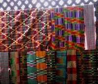 HAND-woven kente cloth, Bonwire, Ghana | Fabrics ...