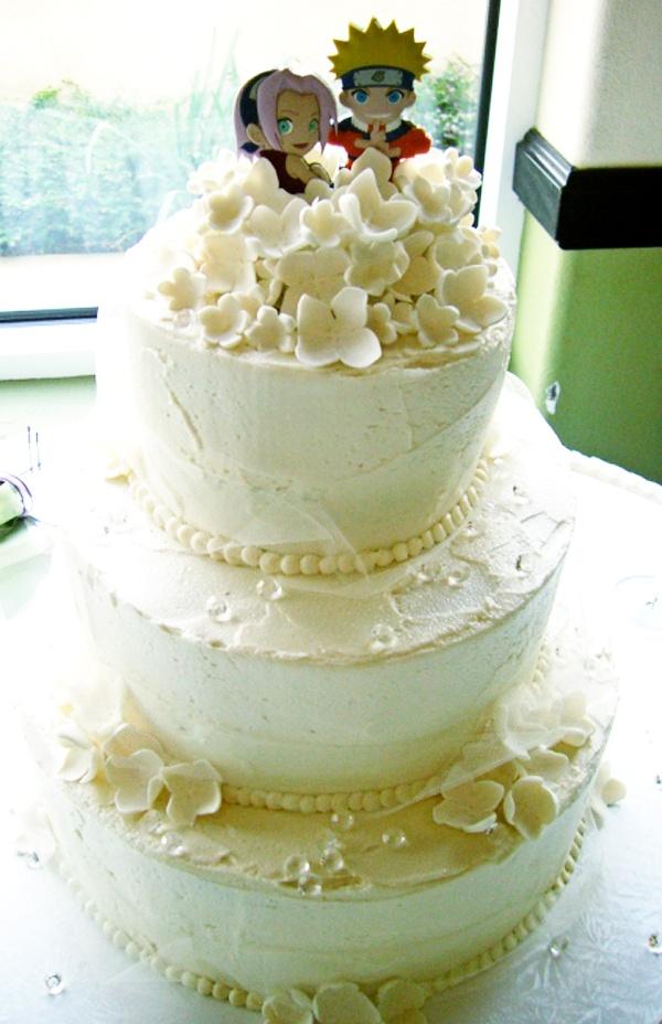 Wedding Cake With Naruto TopperNaruto And Sakura