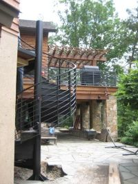 Custom Metal Residential Spiral Staircase at Smith ...