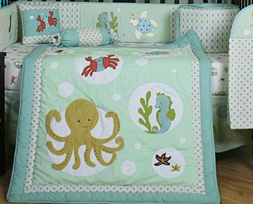 135 Ocean Aquatic Marine Sea Animal 13 Piece Crib Bedding