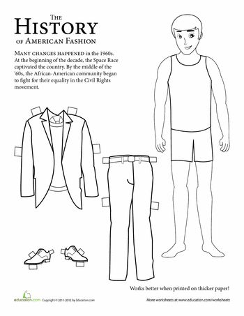 Fashion Through the Years: Printable History Paper Dolls