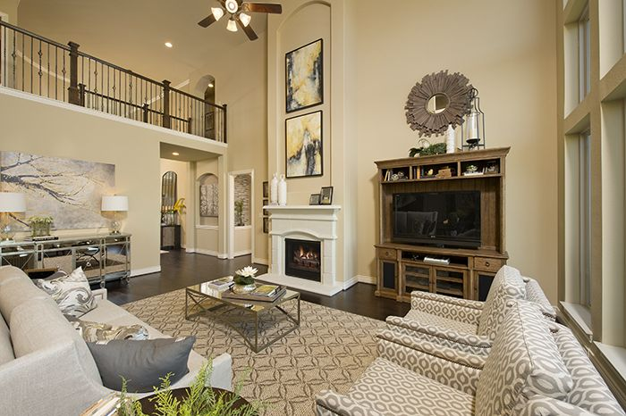 pictures of paint colors for living rooms rugs room uk perry homes - firethorne model home design 4931s — in katy ...