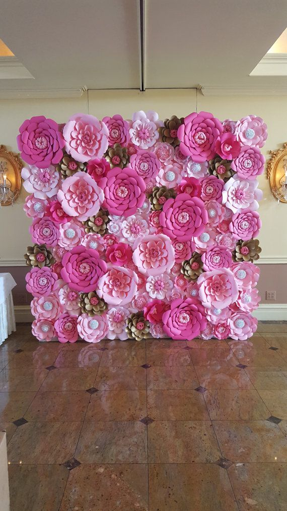25+ best ideas about Paper flower wall on Pinterest