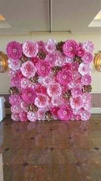 25+ best ideas about Paper flower wall on Pinterest