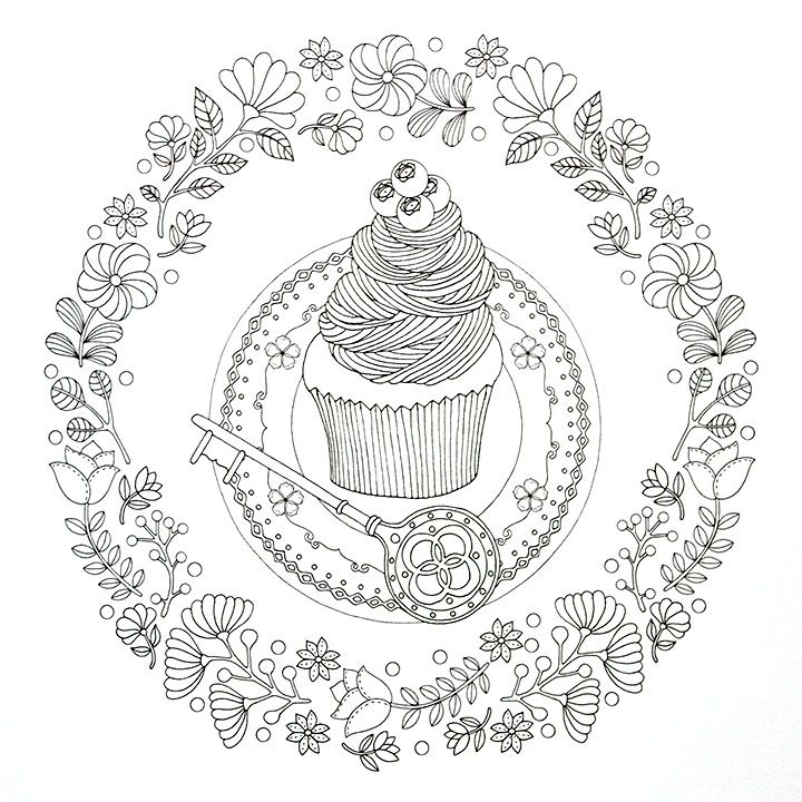 68 best images about Cupcakes + Cakes Coloring Pages for