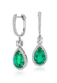 25+ best ideas about Emerald earrings on Pinterest   Green ...