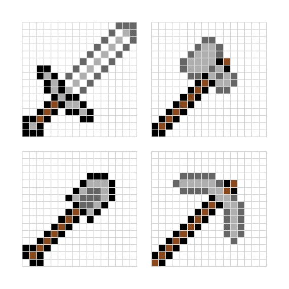 10 Best images about Minecraft Pixel Art Templates on
