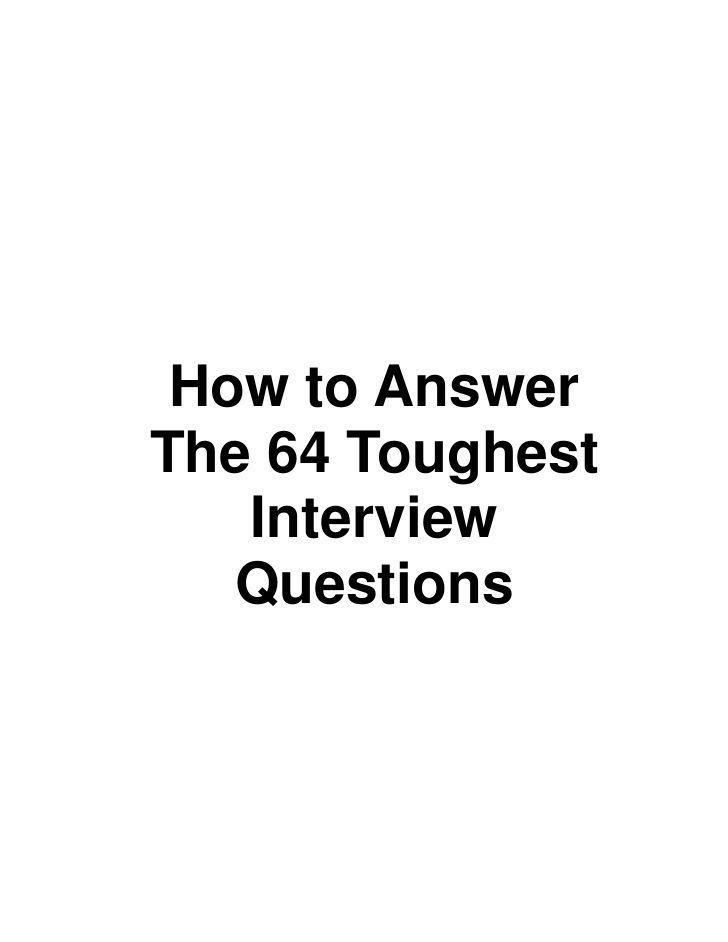 25+ best ideas about Job Interview Questions on Pinterest