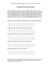 Motivational Interviewing Worksheets Free Worksheets ...