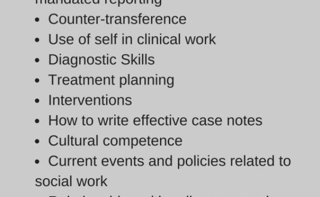 Clinical Supervision Topics For Social Workers And