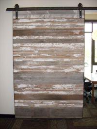 reclaimed sliding barn door   Basement Bars   Pinterest ...
