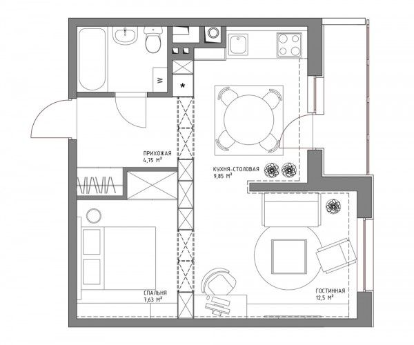 25+ best ideas about Small Apartment Plans on Pinterest